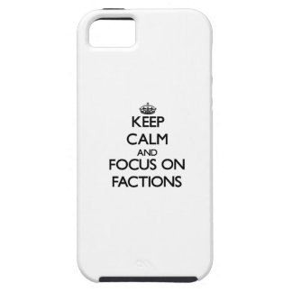 Behalten Sie Ruhe und Fokus auf Parteien iPhone 5 Etuis