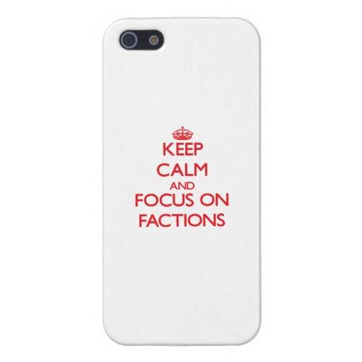 Behalten Sie Ruhe und Fokus auf Parteien Hülle Fürs iPhone 5