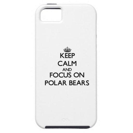 Behalten Sie Ruhe und Fokus auf polaren Bären iPhone 5 Schutzhülle