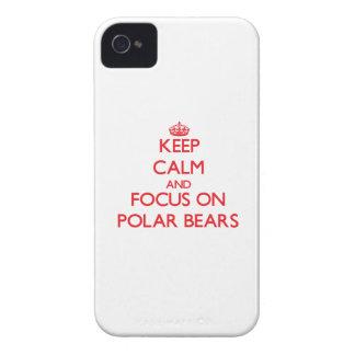Behalten Sie Ruhe und Fokus auf polaren Bären iPhone 4 Hüllen