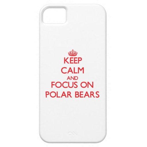 Behalten Sie Ruhe und Fokus auf polaren Bären iPhone 5 Etui