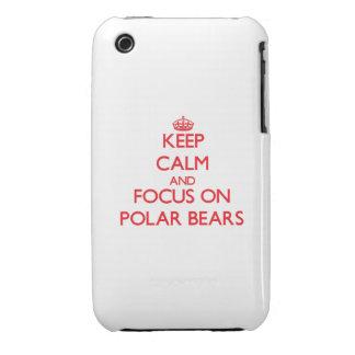 Behalten Sie Ruhe und Fokus auf polaren Bären iPhone 3 Covers