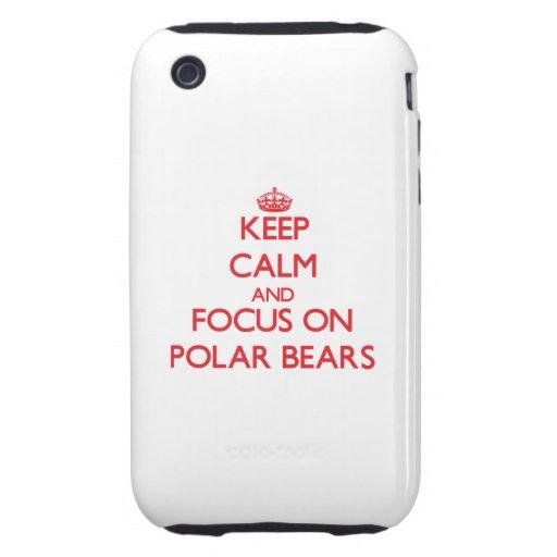Behalten Sie Ruhe und Fokus auf polaren Bären iPhone 3 Tough Cover