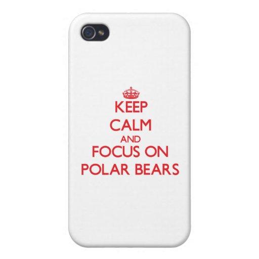 Behalten Sie Ruhe und Fokus auf polaren Bären iPhone 4 Cover