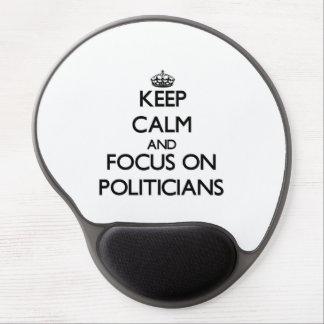 Behalten Sie Ruhe und Fokus auf Politikern Gel Mouse Matten