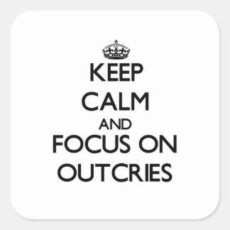 Behalten Sie Ruhe und Fokus auf Protests