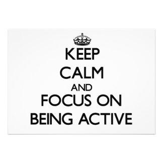 Behalten Sie Ruhe und Fokus auf Sein aktiv
