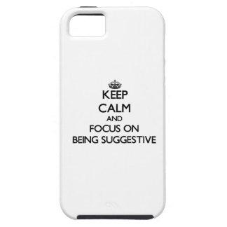 Behalten Sie Ruhe und Fokus auf Sein andeutend Etui Fürs iPhone 5