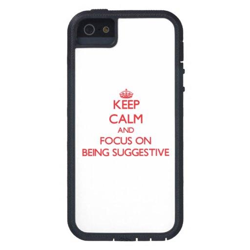 Behalten Sie Ruhe und Fokus auf Sein andeutend iPhone 5 Hüllen
