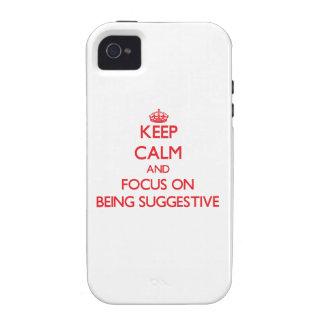 Behalten Sie Ruhe und Fokus auf Sein andeutend Case-Mate iPhone 4 Case