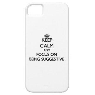 Behalten Sie Ruhe und Fokus auf Sein andeutend iPhone 5 Etuis