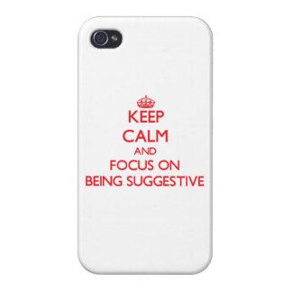 Behalten Sie Ruhe und Fokus auf Sein andeutend Hülle Fürs iPhone 4
