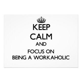Behalten Sie Ruhe und Fokus auf Sein ein