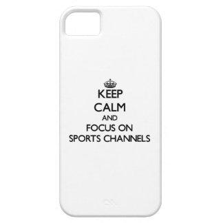 Behalten Sie Ruhe und Fokus auf Sport-Kanälen iPhone 5 Case