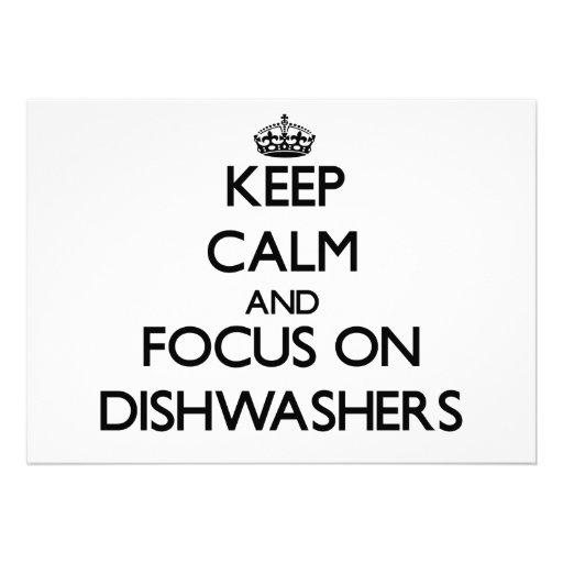 Behalten Sie Ruhe und Fokus auf Spülmaschinen Individuelle Einladungen