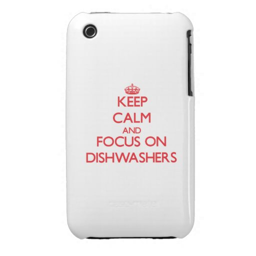 Behalten Sie Ruhe und Fokus auf Spülmaschinen iPhone 3 Hüllen