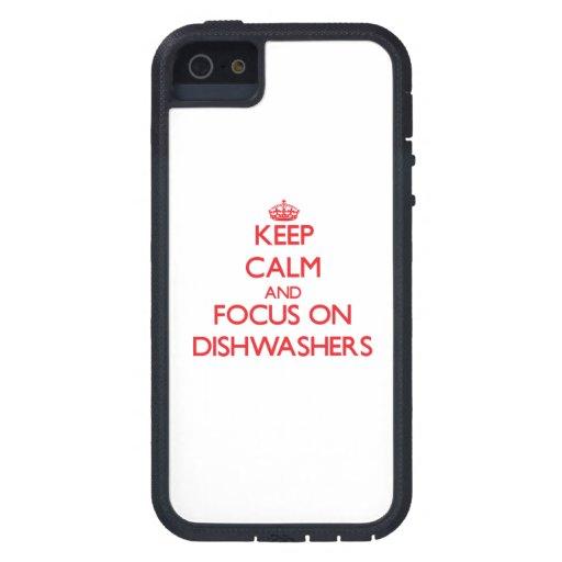 Behalten Sie Ruhe und Fokus auf Spülmaschinen iPhone 5 Schutzhüllen