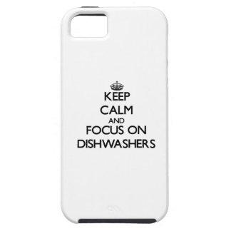 Behalten Sie Ruhe und Fokus auf Spülmaschinen iPhone 5 Hülle