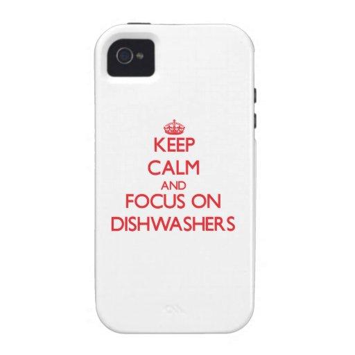 Behalten Sie Ruhe und Fokus auf Spülmaschinen Case-Mate iPhone 4 Hülle