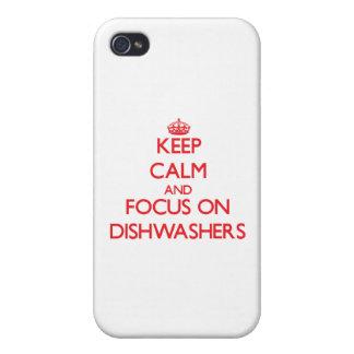 Behalten Sie Ruhe und Fokus auf Spülmaschinen iPhone 4 Schutzhüllen