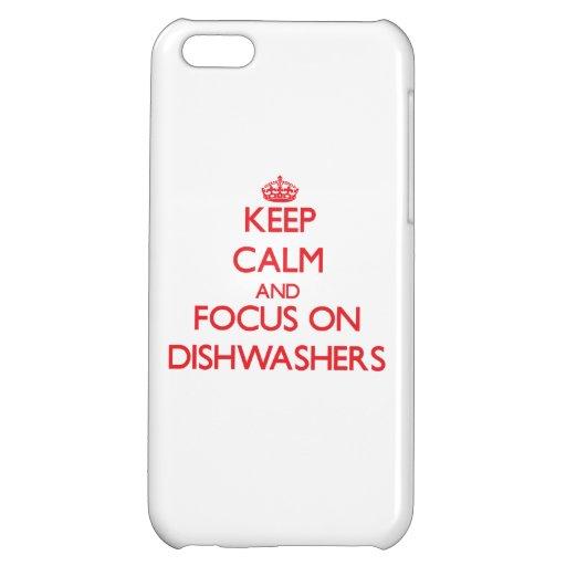 Behalten Sie Ruhe und Fokus auf Spülmaschinen iPhone 5C Hüllen