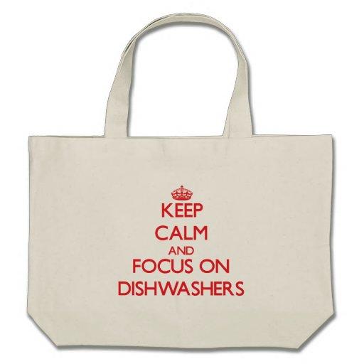 Behalten Sie Ruhe und Fokus auf Spülmaschinen Einkaufstasche