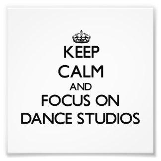 Behalten Sie Ruhe und Fokus auf Tanz-Studios