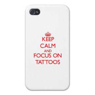 Behalten Sie Ruhe und Fokus auf Tätowierungen iPhone 4/4S Hüllen