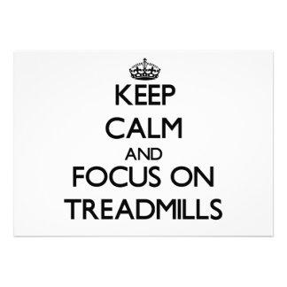 Behalten Sie Ruhe und Fokus auf Tretmühlen Ankündigung