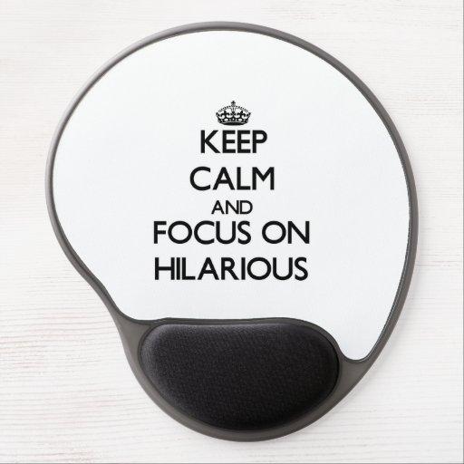 Behalten Sie Ruhe und Fokus auf unglaublich witzig