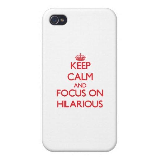 Behalten Sie Ruhe und Fokus auf unglaublich witzig iPhone 4 Cover