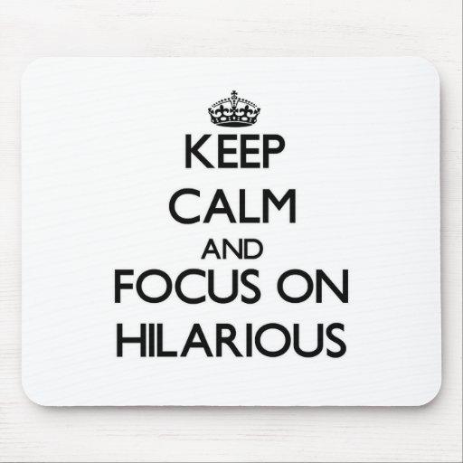 Behalten Sie Ruhe und Fokus auf unglaublich witzig Mauspad