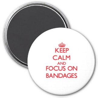 Behalten Sie Ruhe und Fokus auf Verbänden Magnets