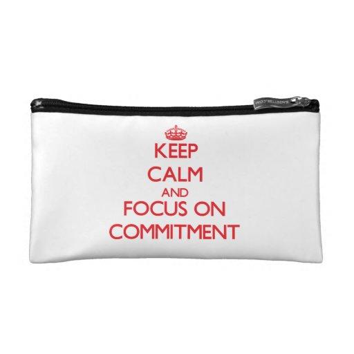 Behalten Sie Ruhe und Fokus auf Verpflichtung