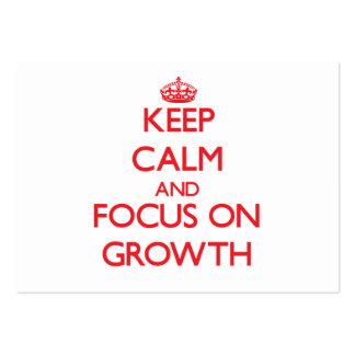 Behalten Sie Ruhe und Fokus auf Wachstum Mini-Visitenkarten