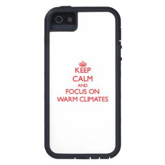 Behalten Sie Ruhe und Fokus auf warmen Klimata iPhone 5 Case