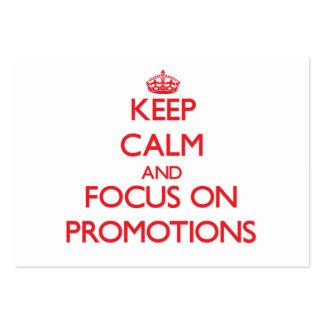 Behalten Sie Ruhe und Fokus auf Werbeaktionen Mini-Visitenkarten