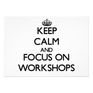 Behalten Sie Ruhe und Fokus auf Werkstätten