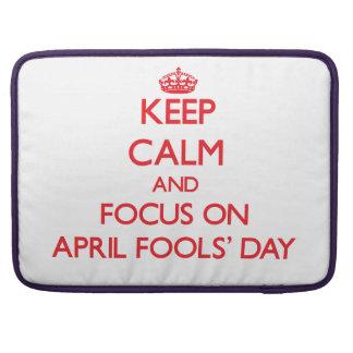 Behalten Sie Ruhe und Fokus im April den TAG Sleeve Für MacBook Pro