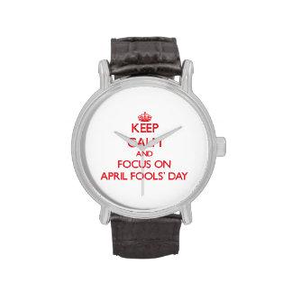 Behalten Sie Ruhe und Fokus im April den TAG Handuhr