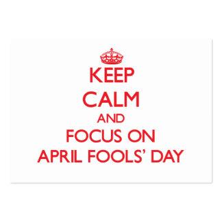 Behalten Sie Ruhe und Fokus im April den TAG Visitenkartenvorlage