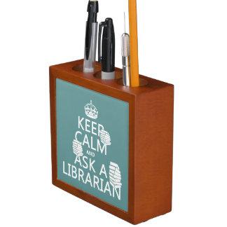 Behalten Sie Ruhe und fragen Sie einen Stifthalter