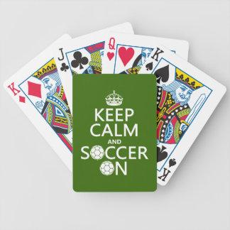 Behalten Sie Ruhe und Fußball an Bicycle Spielkarten