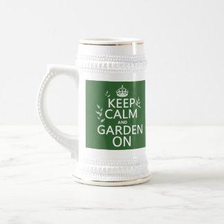 Behalten Sie Ruhe und Garten an - alle Farben Bierglas