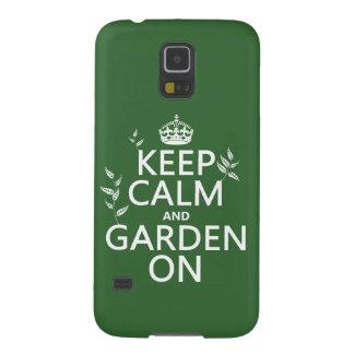Behalten Sie Ruhe und Garten an - alle Farben Galaxy S5 Hülle
