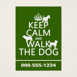 Behalten Sie Ruhe und gehen Sie der Hund - alle Jumbo-Visitenkarten