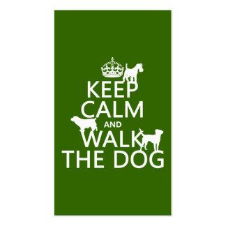 Behalten Sie Ruhe und gehen Sie der Hund - alle Visitenkarten