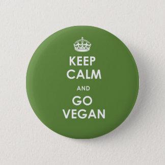 Behalten Sie Ruhe und gehen Sie Knopf veganer Runder Button 5,7 Cm