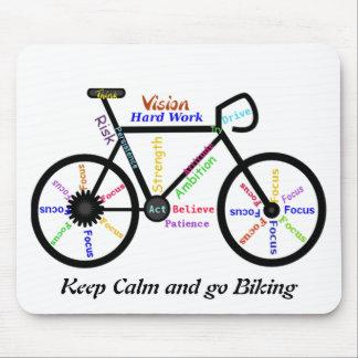 Behalten Sie Ruhe und gehen Sie, mit motivierend Mauspad