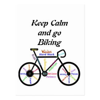 Behalten Sie Ruhe und gehen Sie, mit motivierend Postkarte